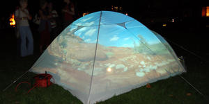 image of tent projection